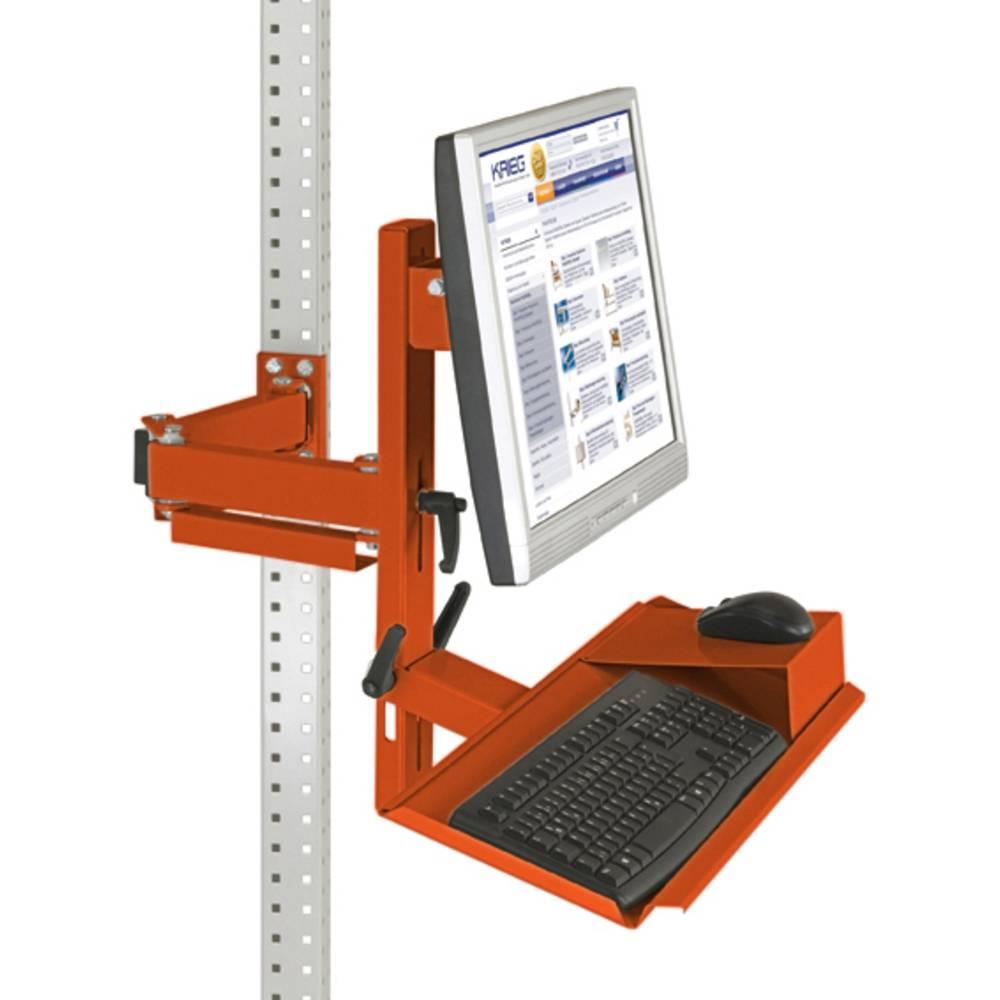 Manuflex ZB3627.2001 Ergonomie monitor nosič pro univerzální a PROFI s plocha klávesnice a myši, VESA adaptér 75 mm