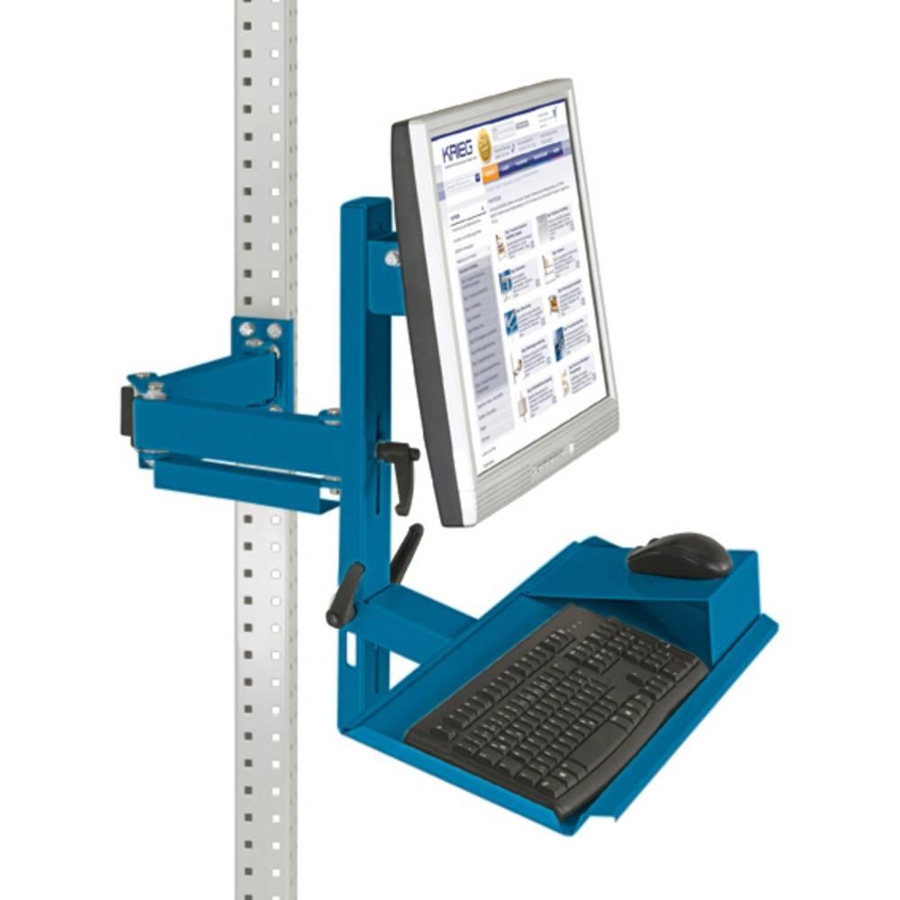 Manuflex ZB3628.5007 Ergonomie monitor nosič pro univerzální a PROFI s plocha klávesnice a myši, VESA adaptér 100 mm