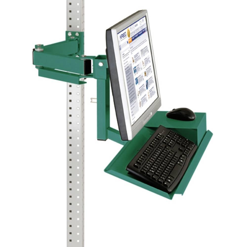Manuflex ZB3625.0001 Standardní monitor nosič pro univerzální a PROFI s plocha klávesnice a myši, VESA adaptér 75 mm