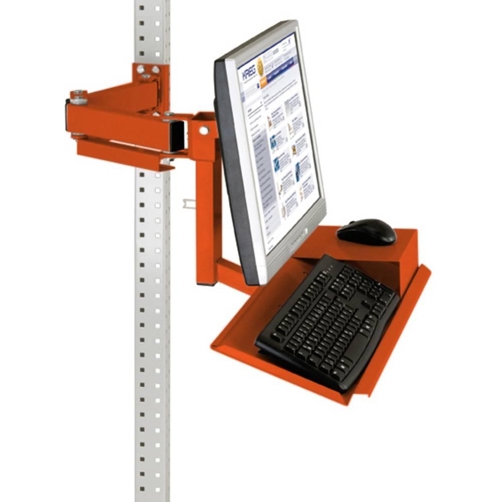 Manuflex ZB3625.2001 Standardní monitor nosič pro univerzální a PROFI s plocha klávesnice a myši, VESA adaptér 75 mm