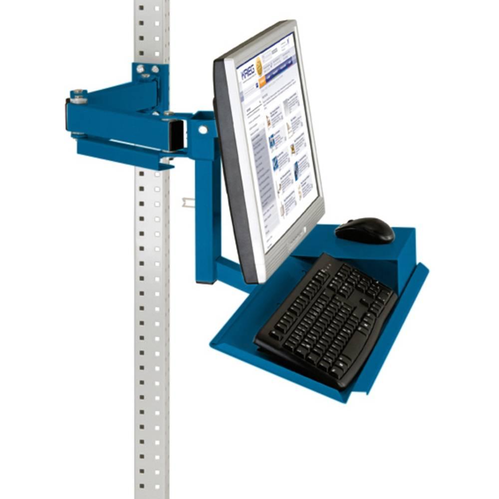 Manuflex ZB3626.5007 Standardní monitor nosič pro univerzální a PROFI s plocha klávesnice a myši, VESA adaptér 100 mm