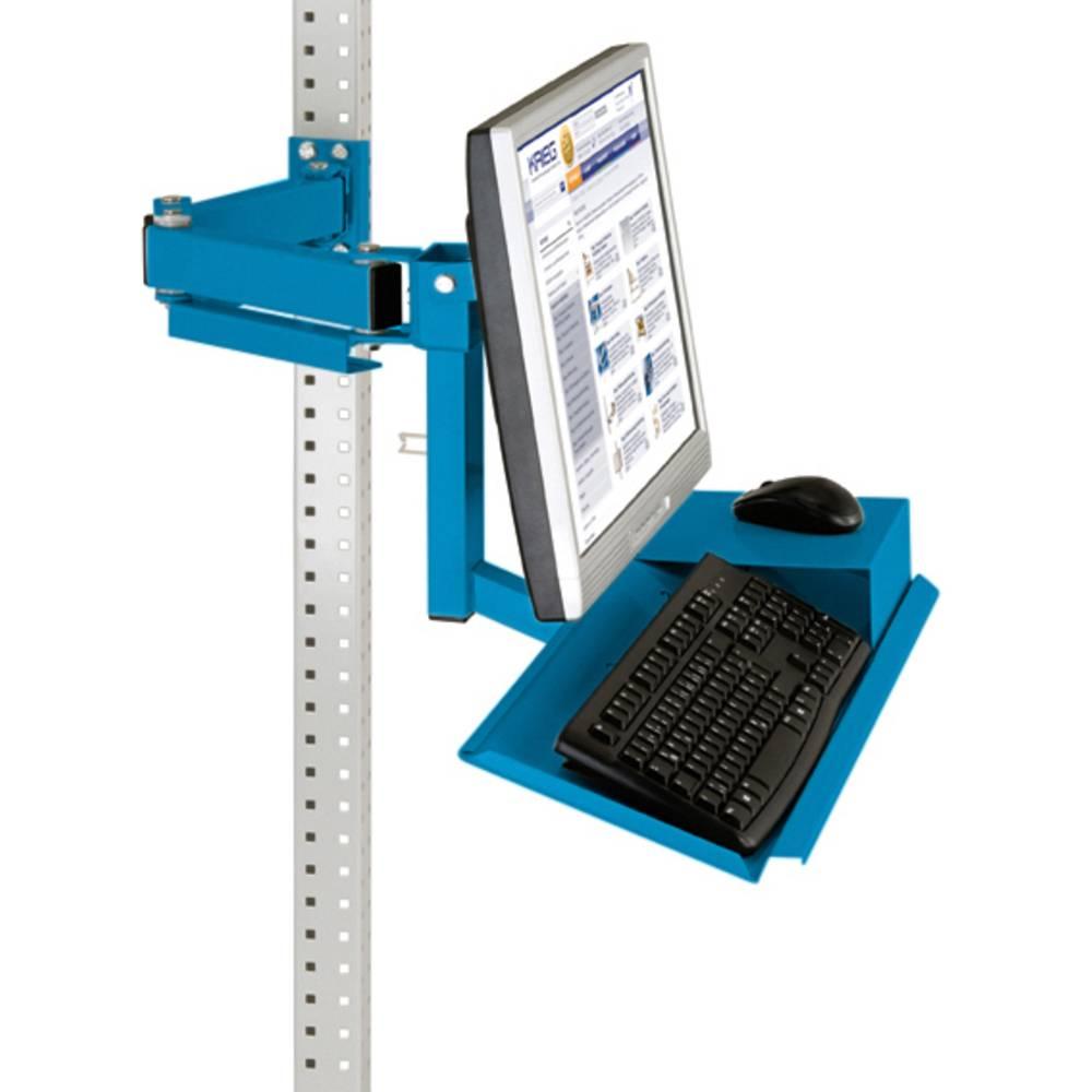 Manuflex ZB3626.5012 Standardní monitor nosič pro univerzální a PROFI s plocha klávesnice a myši, VESA adaptér 100 mm