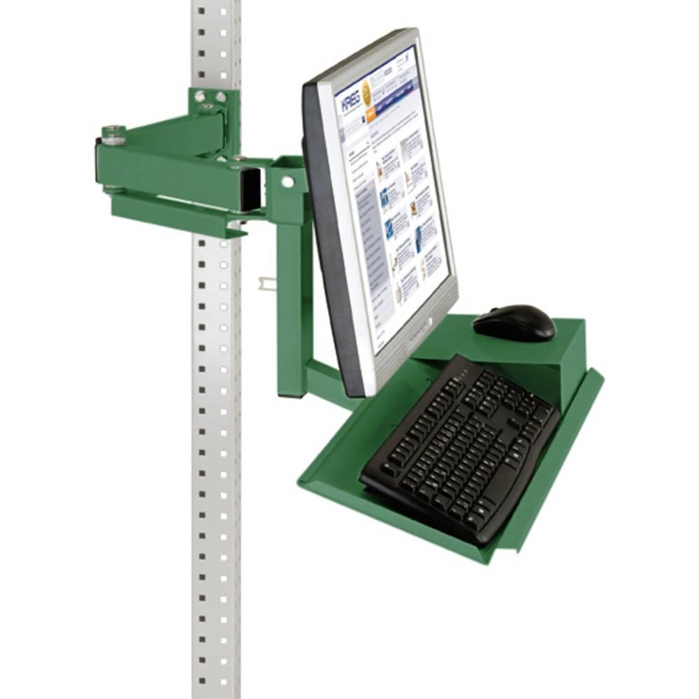 Manuflex ZB3626.6011 Standardní monitor nosič pro univerzální a PROFI s plocha klávesnice a myši, VESA adaptér 100 mm