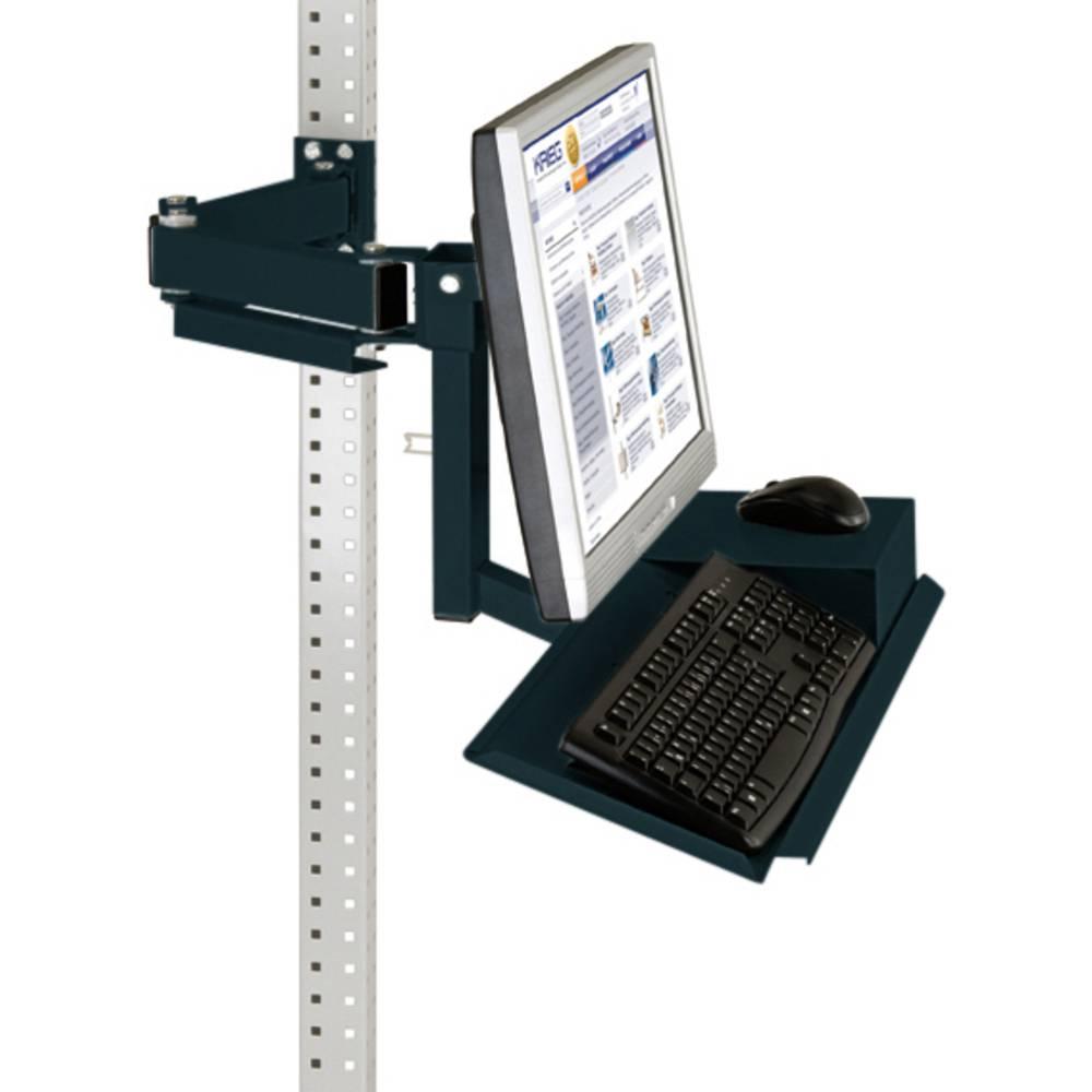 Manuflex ZB3626.7016 Standardní monitor nosič pro univerzální a PROFI s plocha klávesnice a myši, VESA adaptér 100 mm