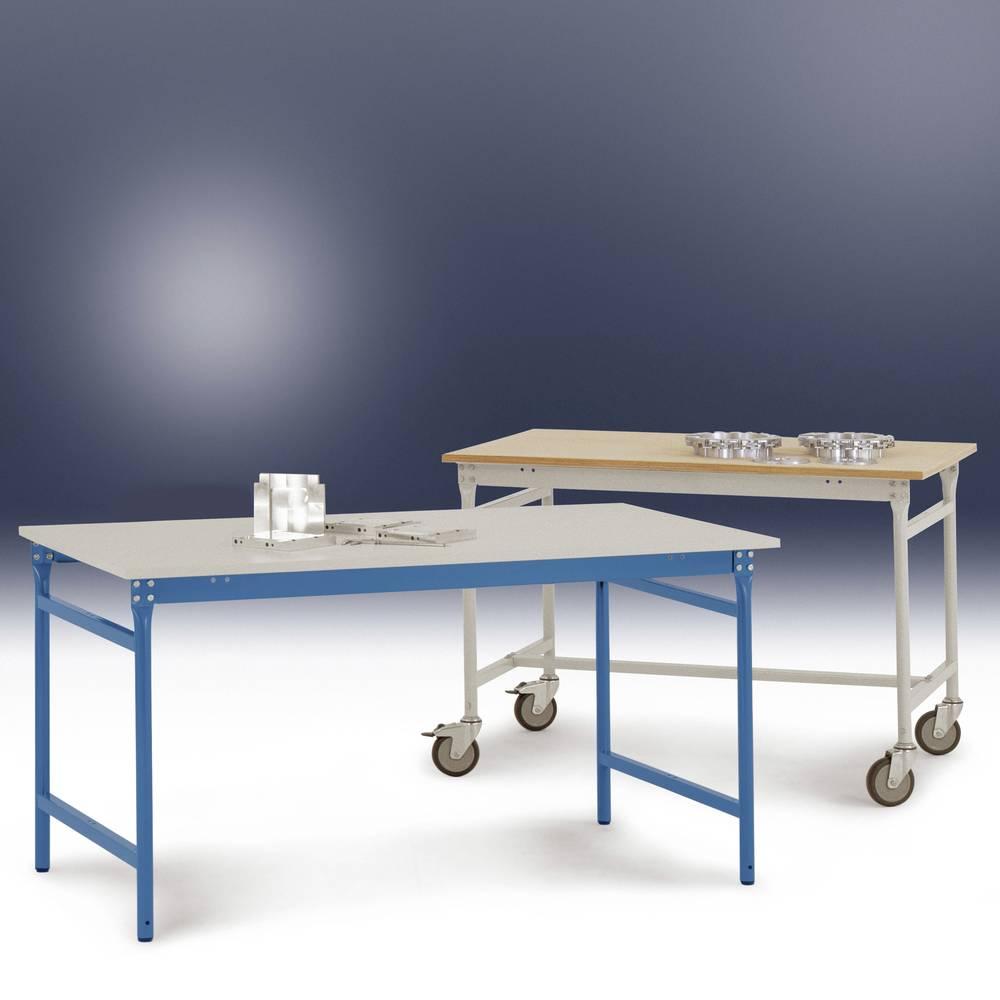 Manuflex BB3027.2001 Servírovací stolek základní stacionárně s plastovým stolní deska v roto range RAL 2001, Šxhxv: 1000 x 800 x 780 mm Barva: červenooranžová (RAL 2001)