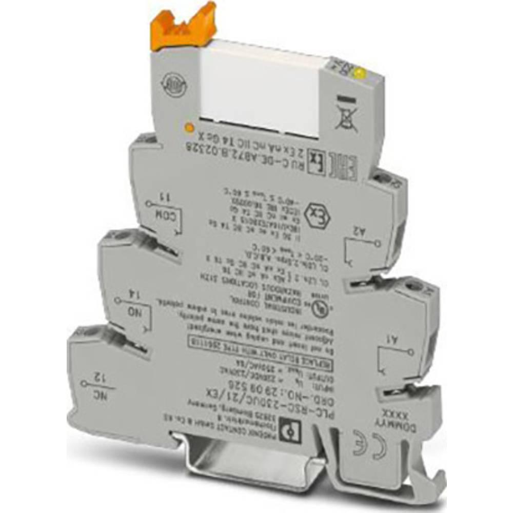 Phoenix Contact PLC-RSC-230UC/21/EX reléový modul Jmenovité napětí: 230 V/AC Spínací proud (max.): 6 A 1 přepínací kontakt 10 ks