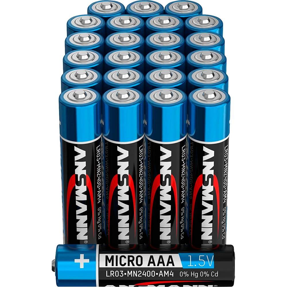 Ansmann mikrotužková baterie AAA alkalicko-manganová 1.5 V 24 ks