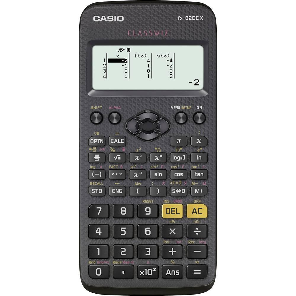 Casio FX-82DEX školní počítač černá Displej (počet míst): 12 na baterii (š x v x h) 77 x 14 x 166 mm
