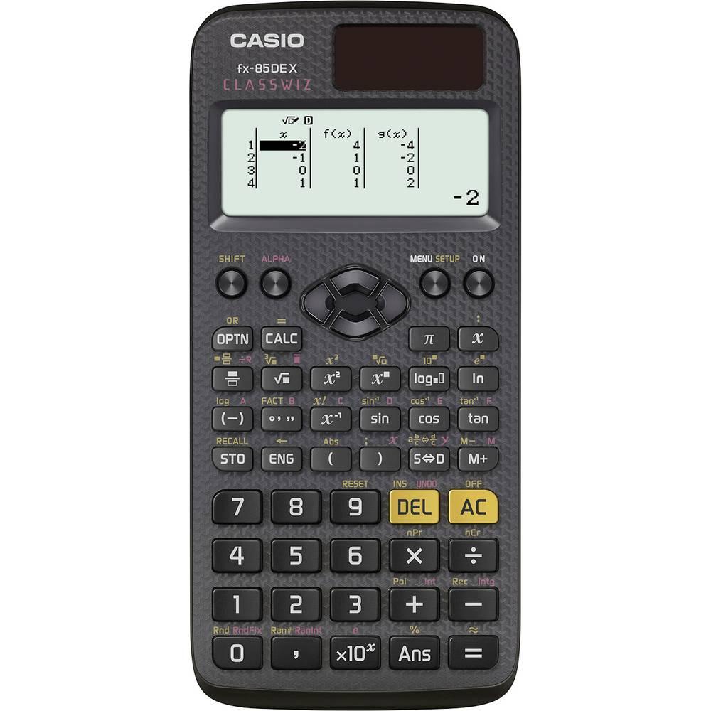 Casio FX-85DEX školní počítač černá Displej (počet míst): 12 solární napájení, na baterii (š x v x h) 77 x 11 x 166 mm
