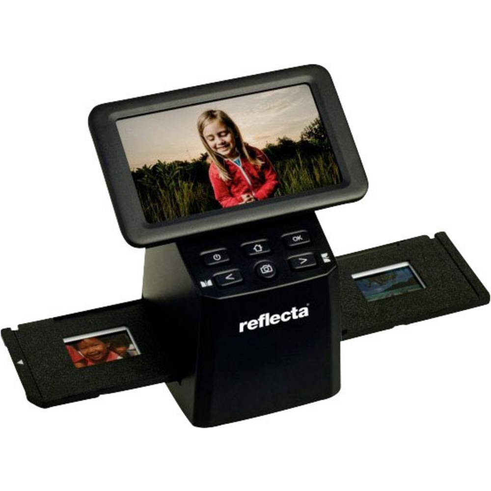 Reflecta x33-Scan skener diapozitivů, skener negativů 4608 x 3072 integrovaný displej, se zásuvkou pro paměťová média