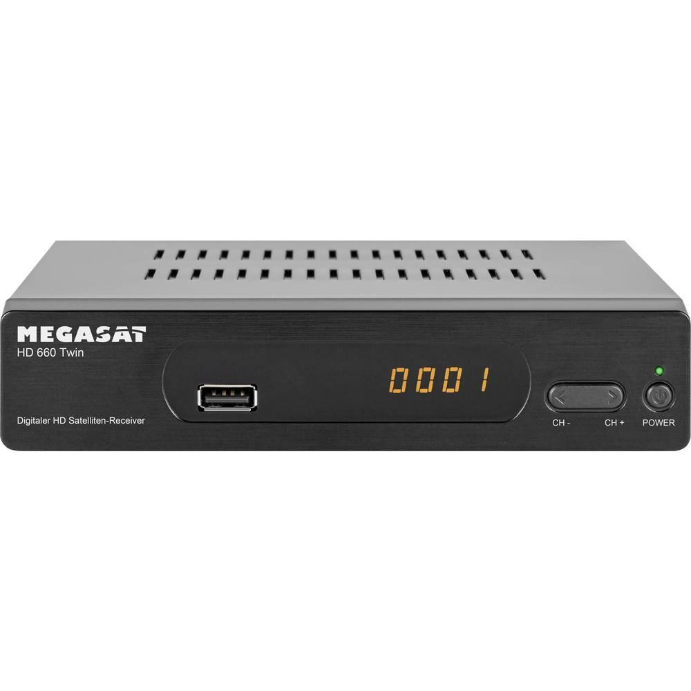 MegaSat HD 660 Twin satelitní přijímač s funkcí nahrávání, ethernetová přípojka počet tunerů: 2
