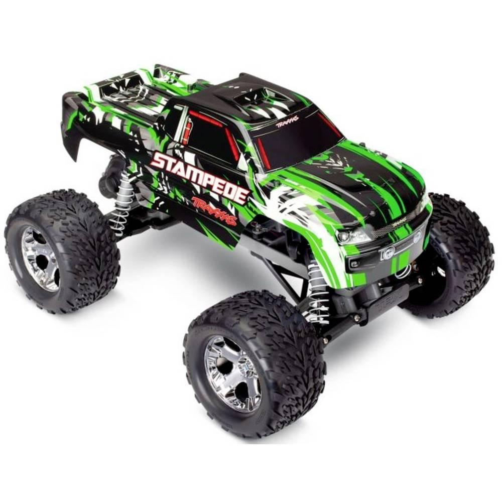 Traxxas Stampede zelená komutátorový 1:10 RC model auta elektrický monster truck zadní 2WD (4x2) RtR 2,4 GHz