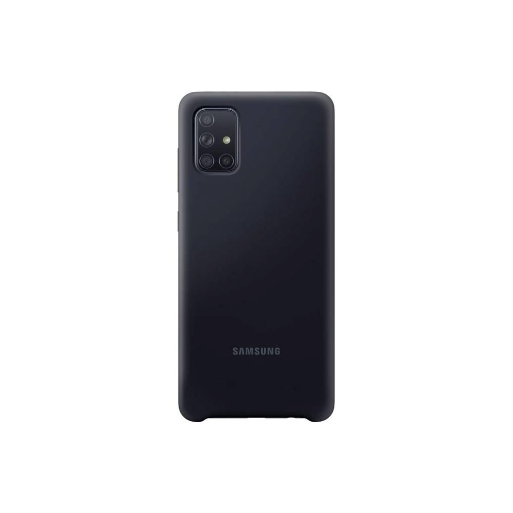 Samsung Silicone Cover Cover Samsung Galaxy A71 černá