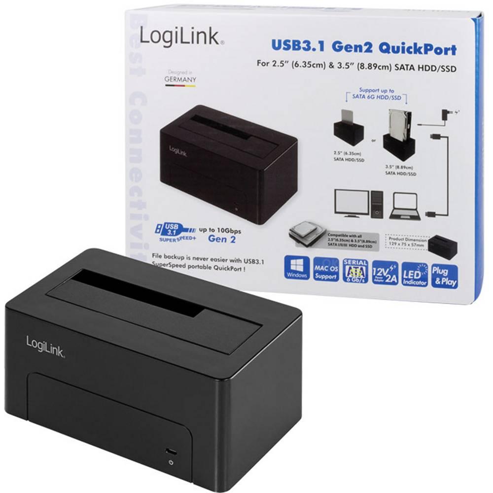 LogiLink QP0027 dokovací stanice pro pevný disk Počet pevných disků (max.): 1 x 2.5 palec, 3.5 palec