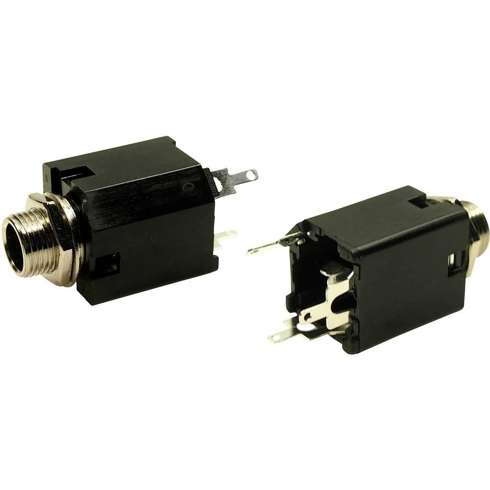 Cliff FM6703 jack konektor 6.35 mm zásuvka, vestavná vertikální Pólů: 3 stereo 1 ks
