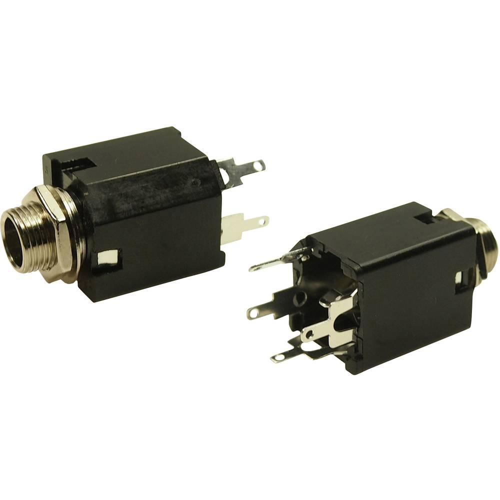 Cliff FM6701 jack konektor 6.35 mm zásuvka, vestavná vertikální Pólů: 3 stereo 1 ks