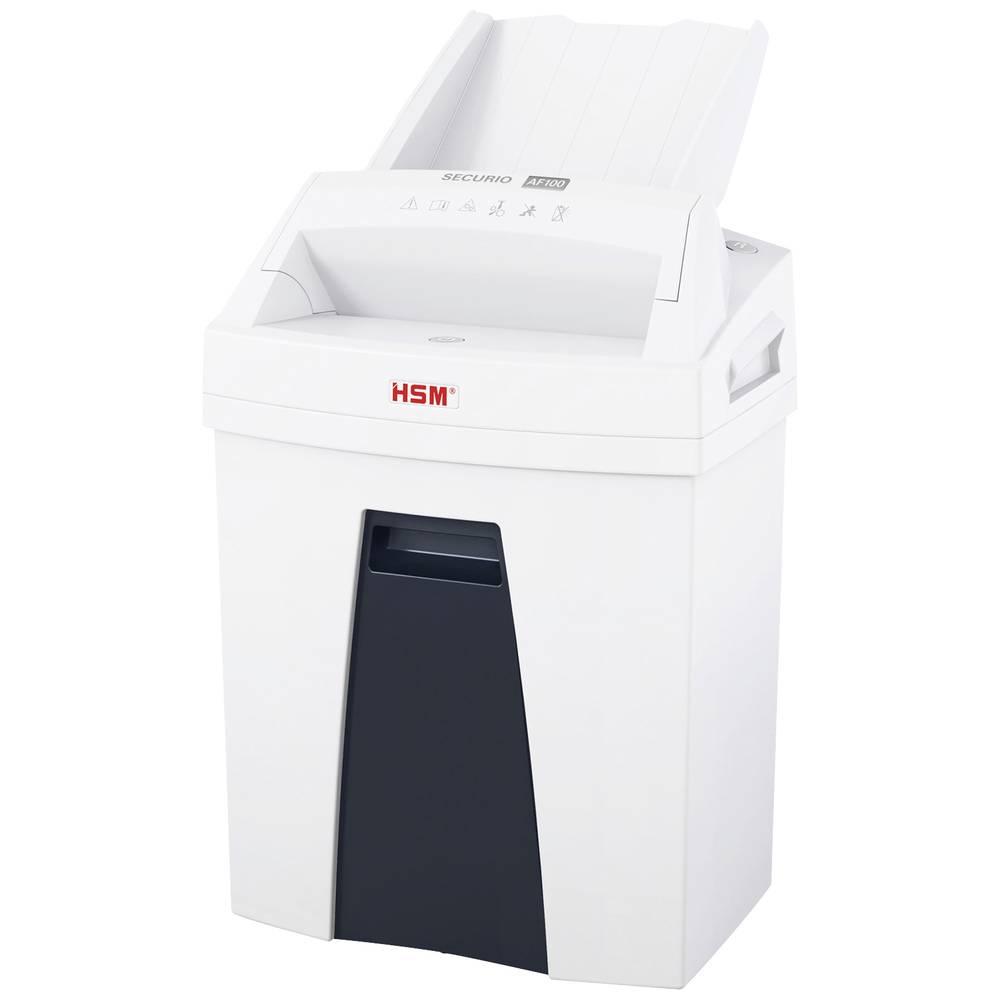 HSM Securio AF100 skartovačka na kousky 4 x 25 mm 25 l Počet listů (max.): 7 Křížový řez kancelářské sponky, sponky do sešívačky, kreditní karty