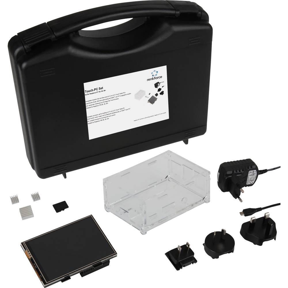 Renkforce Touch-PC Set f. Raspberry Pi® 2 B, 3 B, 3 B + vč. dotykového displeje, vč. pouzdra, vč. napájecího zdroje, vč. Noobs OS, vč. chladicího tělesa