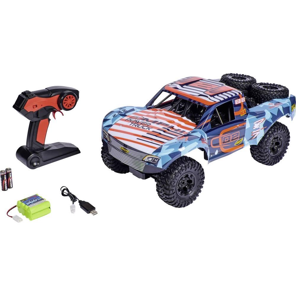 Carson Modellsport Amphi Pow.Truck oranžová komutátorový 1:10 RC model auta elektrický závodní RC model auta Short Course 4WD (4x4) RtR 2,4 GHz