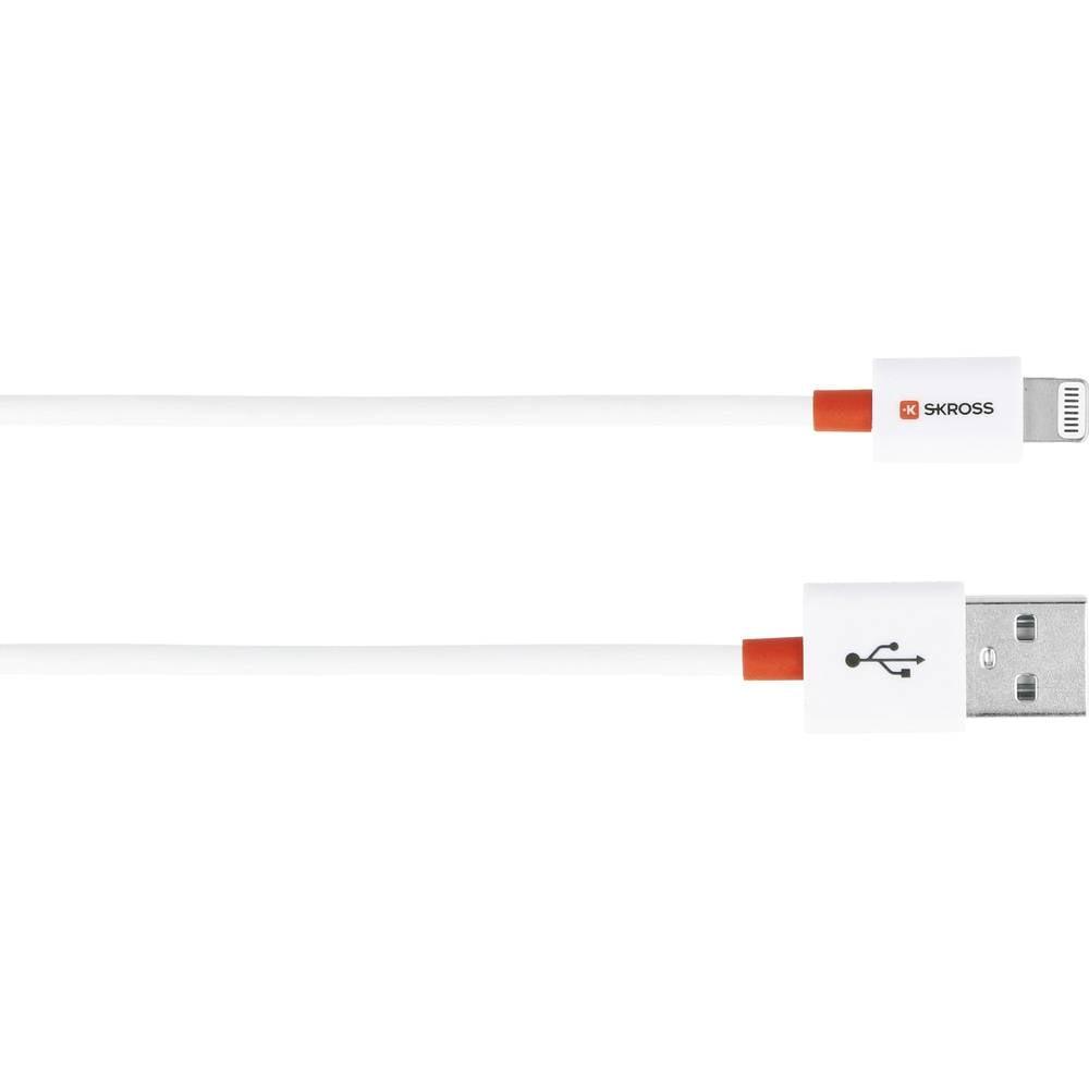 Skross iPhone/iPad/iPod USB kabel [1x USB - 1x dokovací zástrčka Apple Lightning] 1.00 m bílá