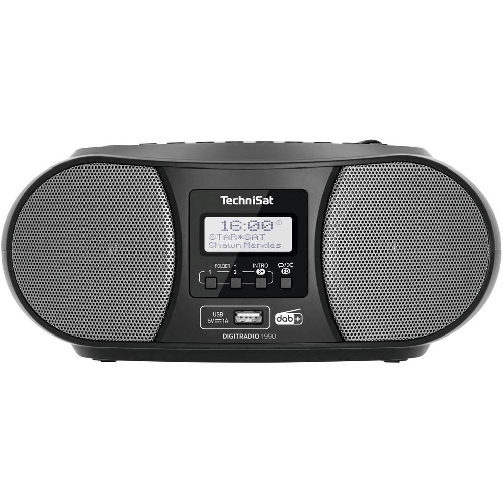 TechniSat DIGITRADIO 1990 CD-rádio DAB+, FM Bluetooth černá