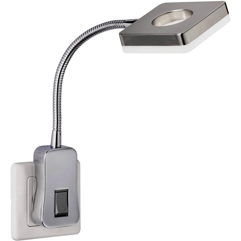 WOFI světlo do zásuvky LED pevně vestavěné LED 4 W niklová (matná)
