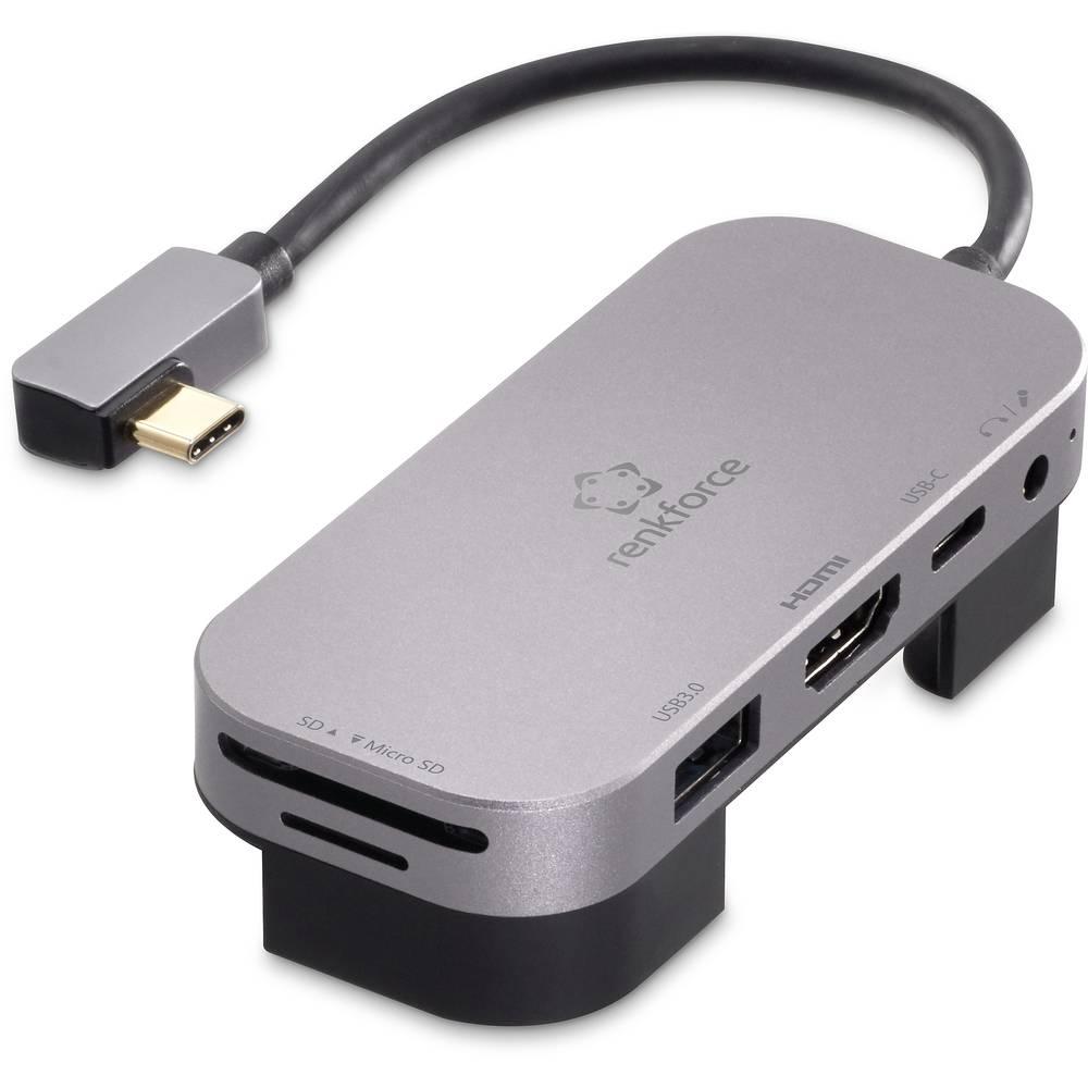 Renkforce RF-4533946 USB-C™ mini dokovací stanice vhodné pro značky: univerzální, Apple vč. funkce nabíjení
