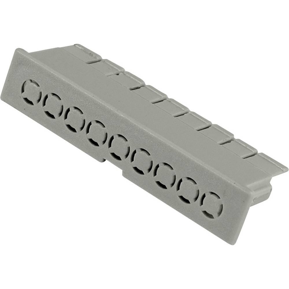 Hammond Electronics víčko pouzdra na DIN lištu 52 x 10 x 16 polykarbonát světle zelená 1 ks