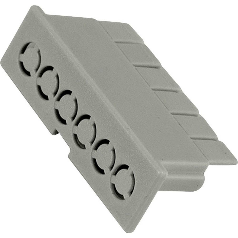 Hammond Electronics víčko pouzdra na DIN lištu 35 x 10 x 16 polykarbonát světle zelená 1 ks