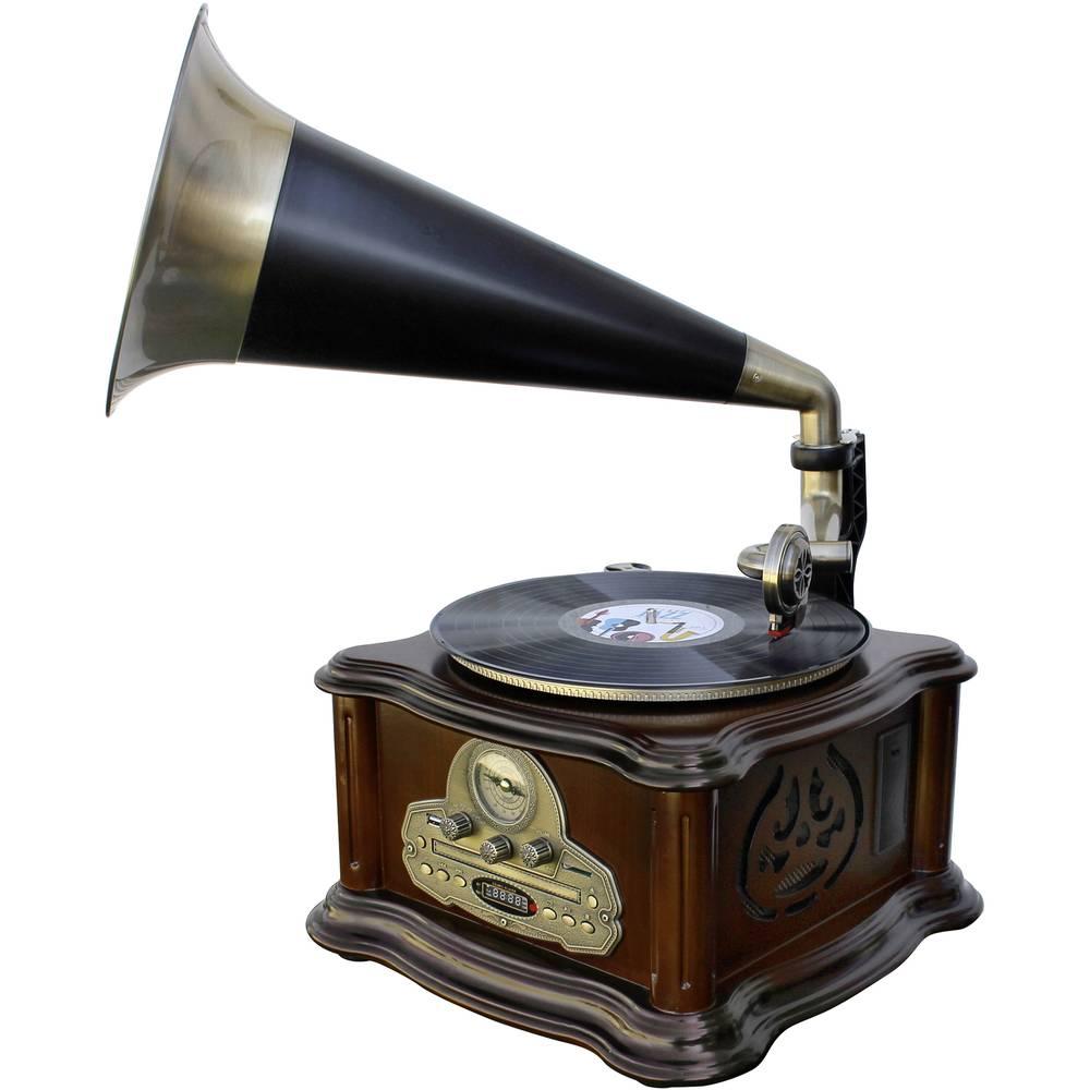 soundmaster NR917 gramofon hnědá, zlatá, černá