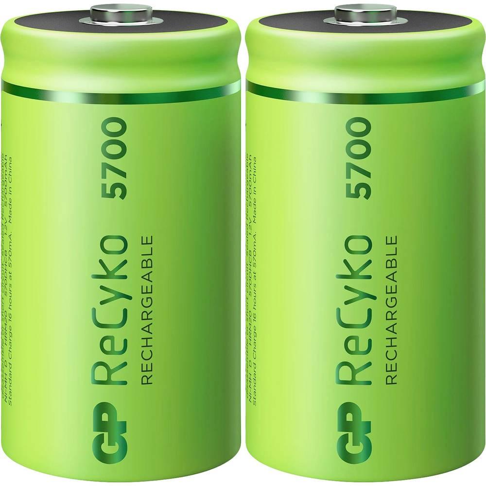 GP Batteries ReCyko+ akumulátor velké mono D Ni-MH 5700 mAh 1.2 V 2 ks