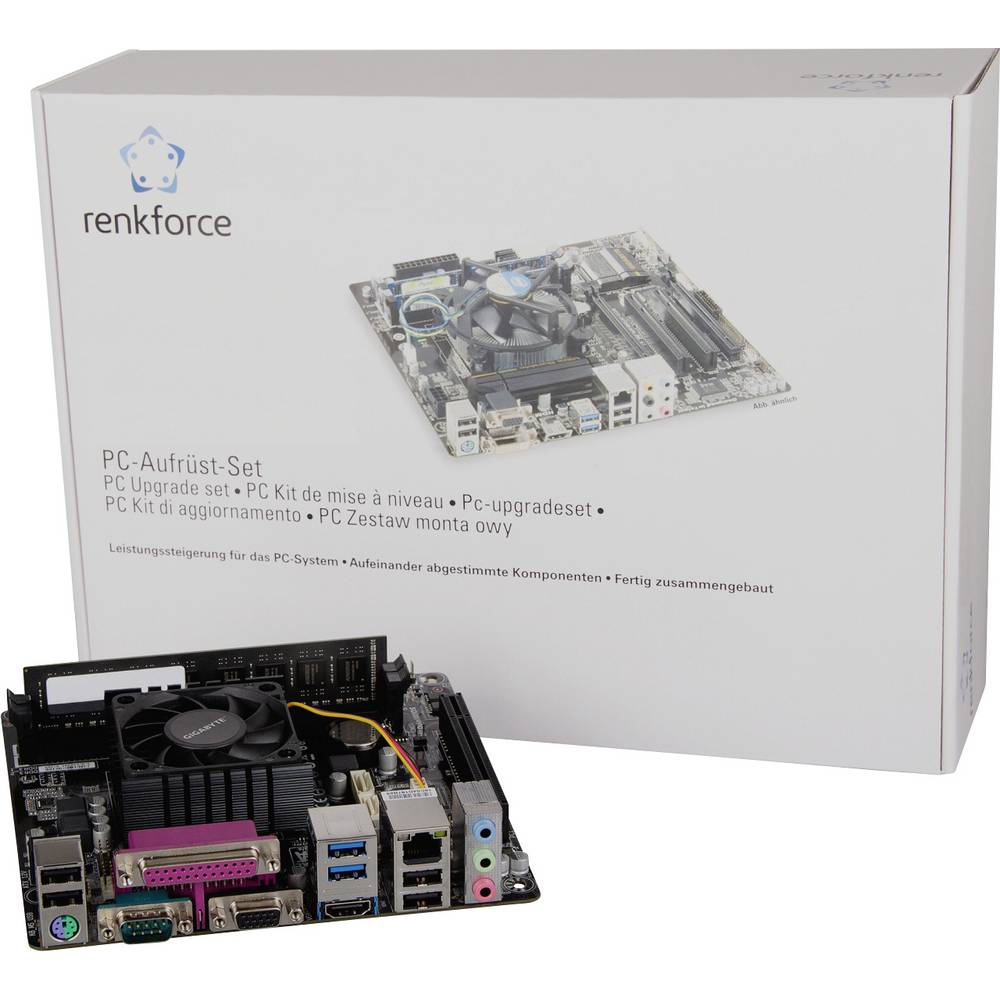 Renkforce PC Tuning-Kit AMD E1 AMD E1-6010 APU (2 x 1.4 GHz) 8 GB AMD Radeon R2 Mini-ITX