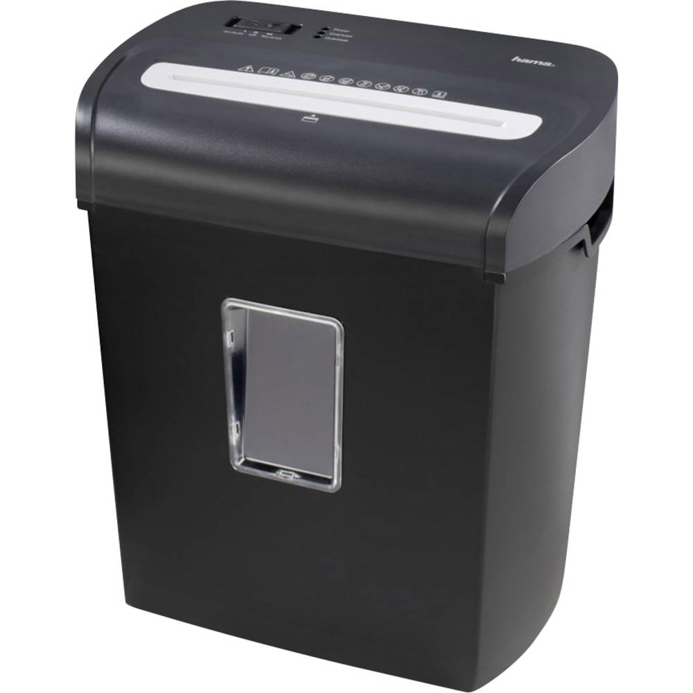 Hama Premium M8 skartovačka na proužky 3 x 9 mm 20 l Počet listů (max.): 9 Stupeň zabezpečení (skartovač) 3 Křížový řez CD, DVD, kreditní karty