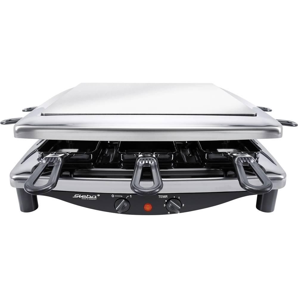 Steba Germany RC 7 STEEL DELUXE raclette gril indikátor, 8 pánví