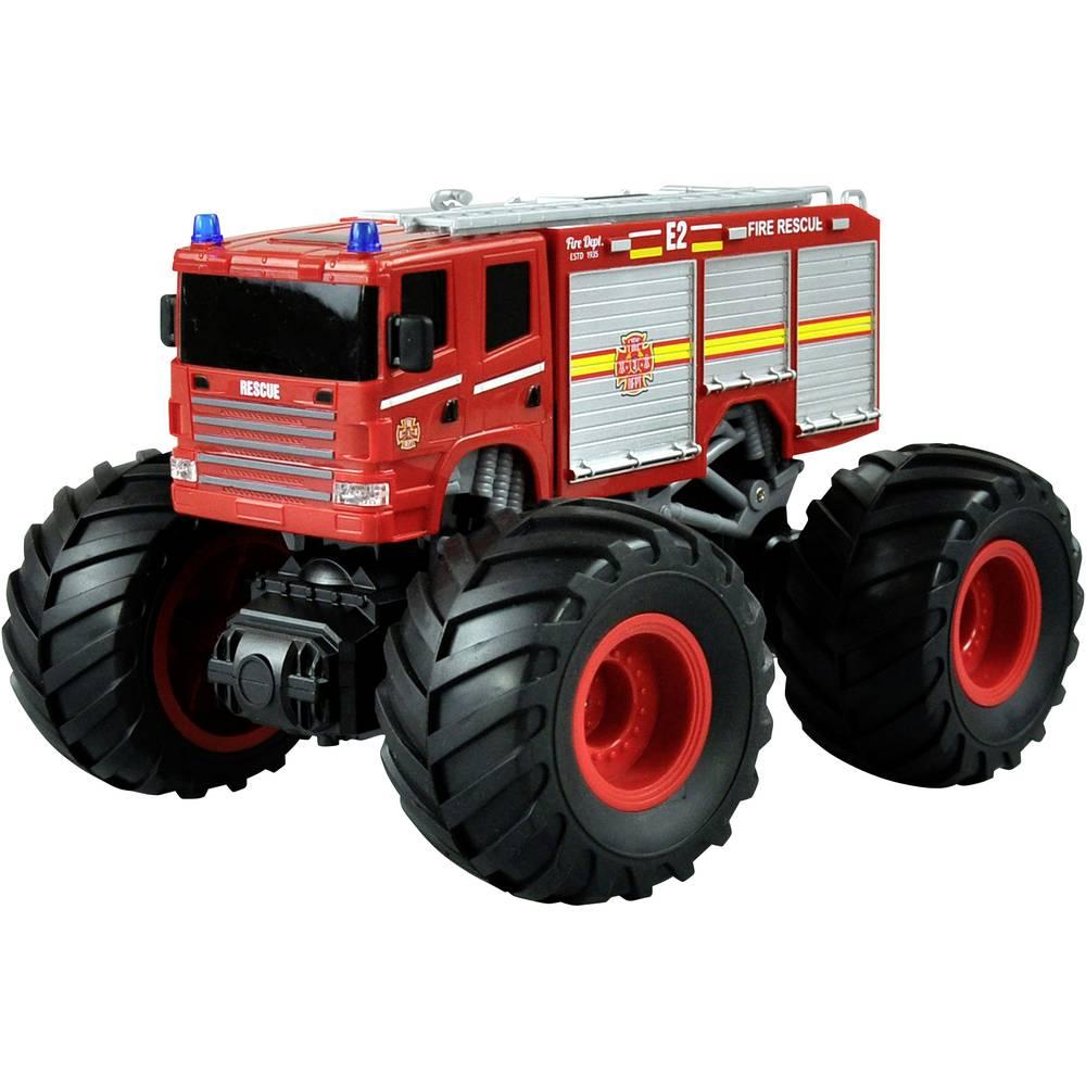 Amewi červená komutátorový 1:18 RC model auta elektrický monster truck zadní 2WD (4x2) RtR 2,4 GHz