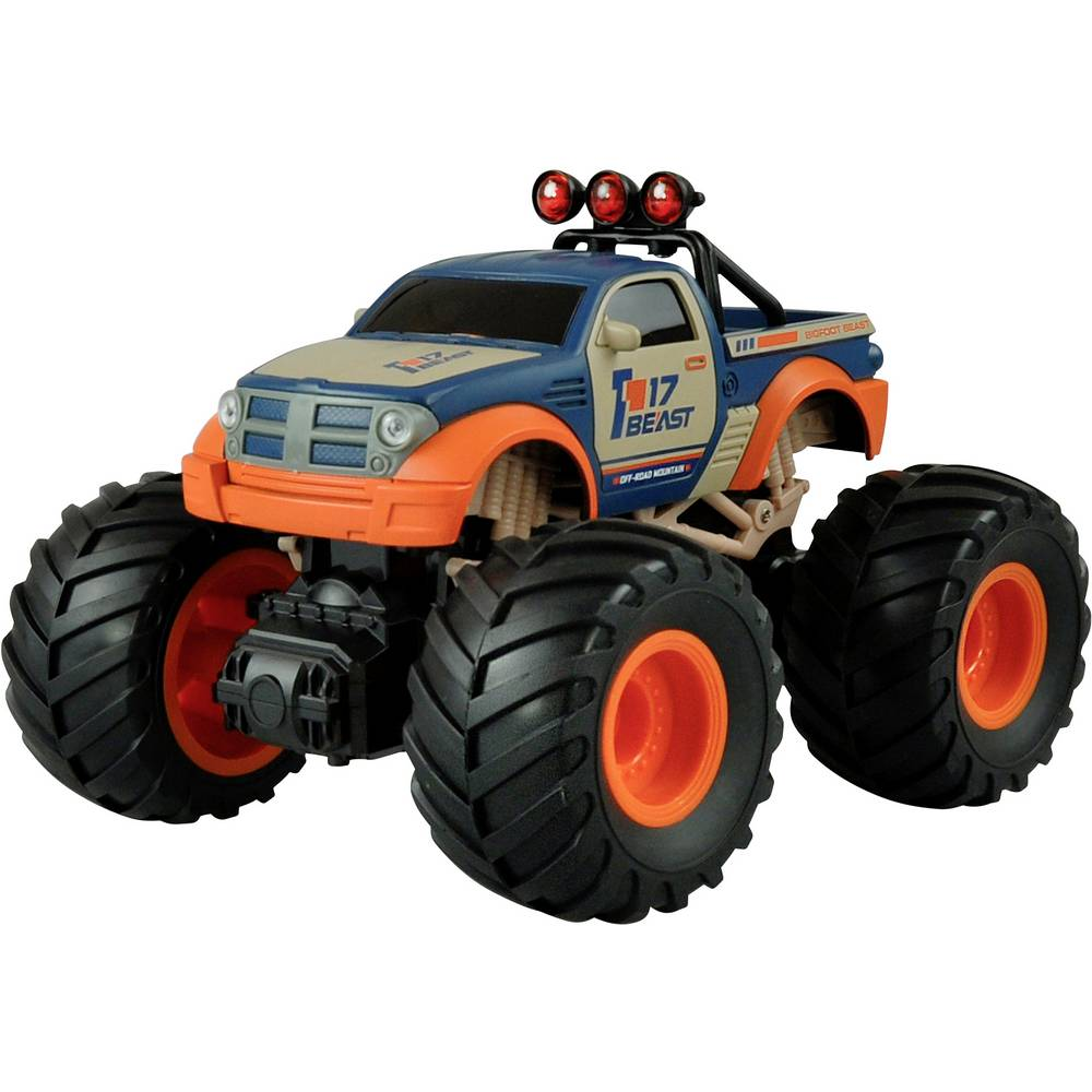 Amewi oranžová, modrá komutátorový 1:18 RC model auta elektrický monster truck zadní 2WD (4x2) RtR 2,4 GHz