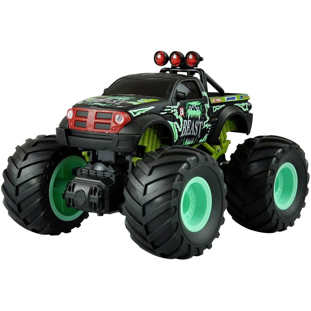 Amewi zelená komutátorový 1:18 RC model auta elektrický monster truck zadní 2WD (4x2) RtR 2,4 GHz