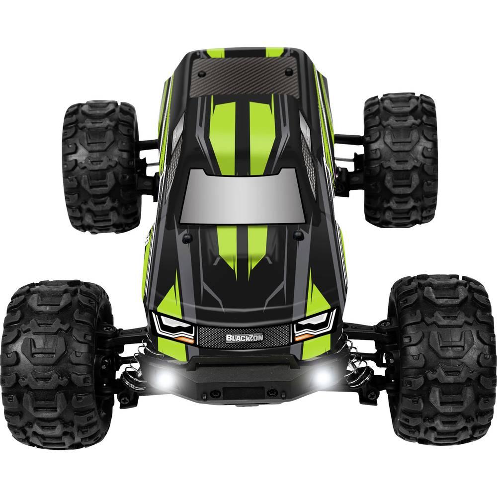 Blackzon SLAYER 1/16TH 4WD ELECTRIC TRUCK černá/zelená komutátorový 1:16 RC model auta elektrický monster truck 4WD (4x4) RtR 2,4 GHz vč. akumulátorů a nabíječky