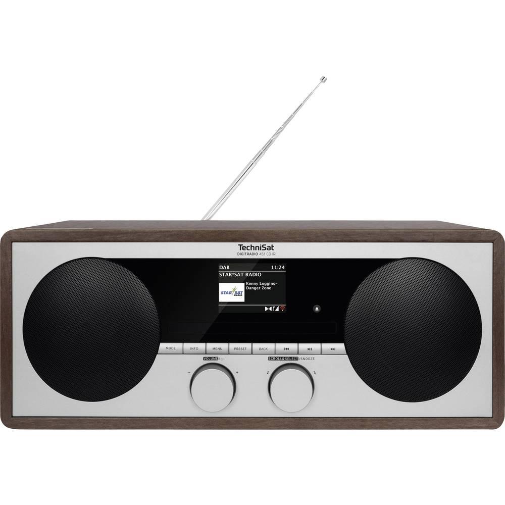 TechniSat DIGITRADIO 451 CD IR internetové stolní rádio internetové, DAB+, FM AUX, Bluetooth, CD, DAB+, internetové rádio, FM, USB, Wi-Fi vč. dálkového ovládání, Spotify dřevo (tmavé)