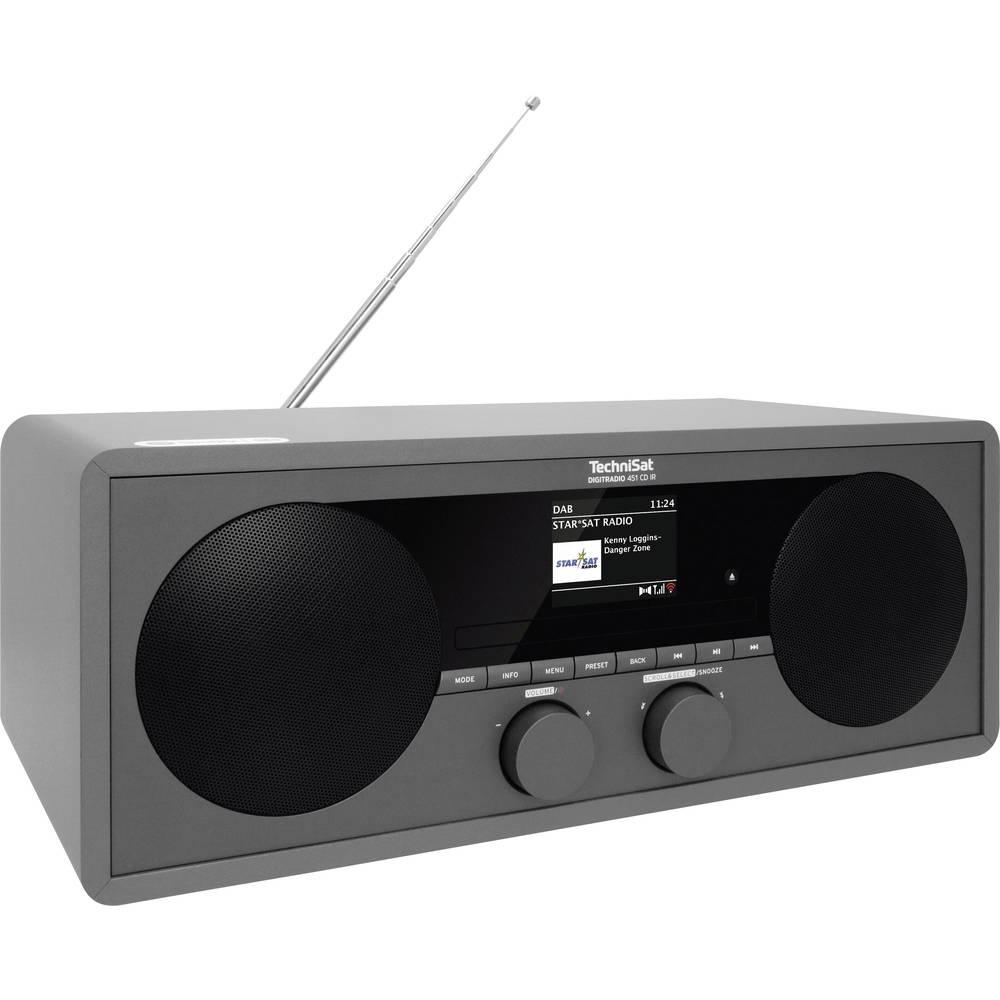 TechniSat DIGITRADIO 451 CD IR internetové stolní rádio internetové, DAB+, FM AUX, Bluetooth, CD, DAB+, internetové rádio, FM, USB, Wi-Fi vč. dálkového ovládání, Spotify antracitová