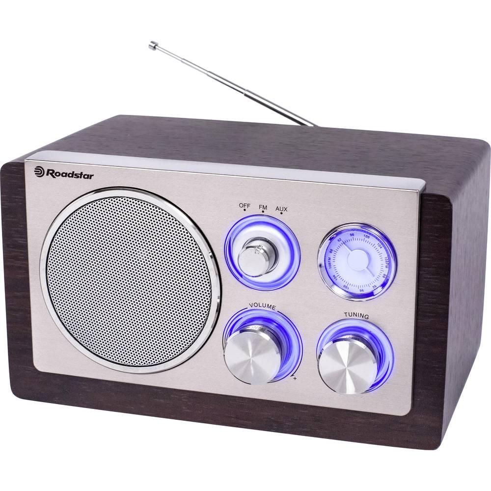 Roadstar HRA-1245N kuchyňské rádio FM, AM AUX, bezdrátový příjem dřevo, stříbrná