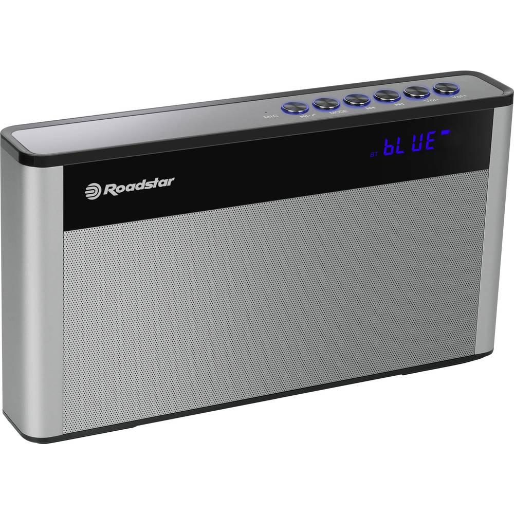 Roadstar TRA-570US přenosné rádio FM USB, Bluetooth, AUX s USB nabíječkou, hlasitý odposlech černá, stříbrná