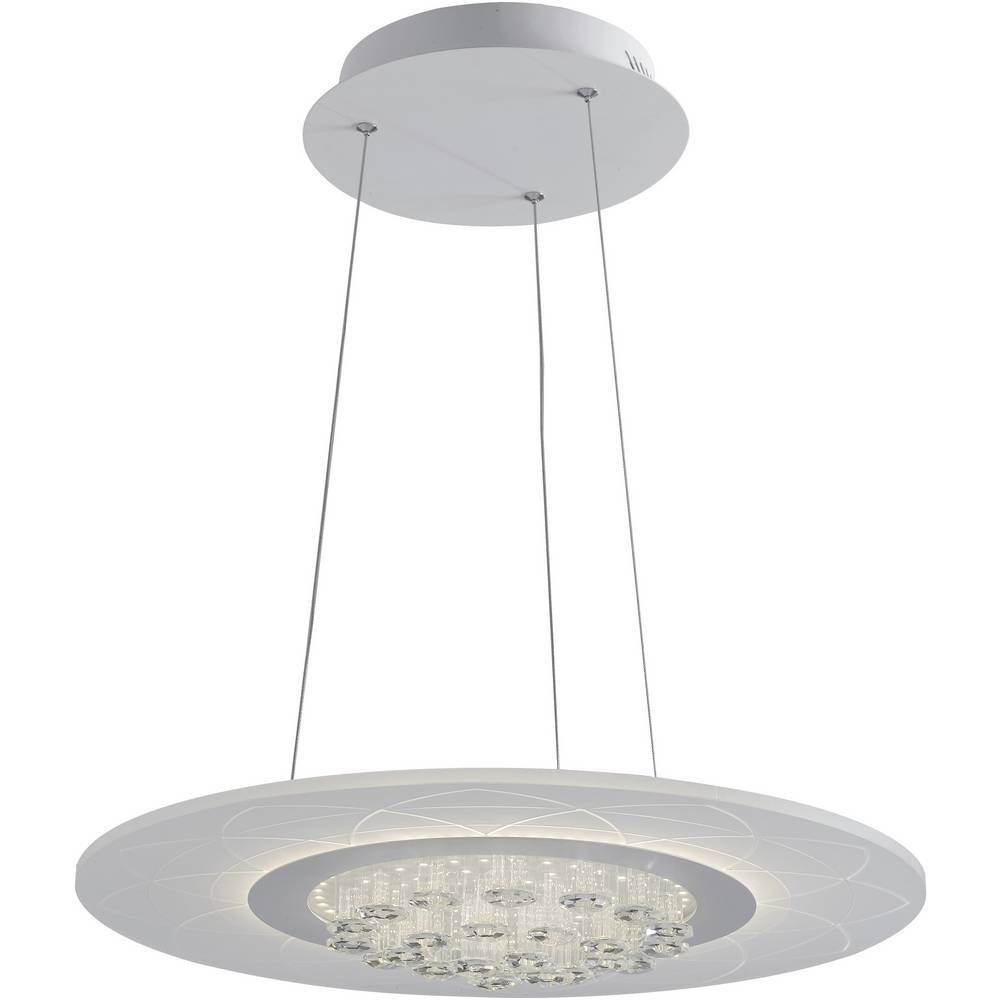 ECO-Light LED-HIMALAYA-S50 LED-HIMALAYA-S50 LED závěsný lustr 42 W neutrální bílá bílá
