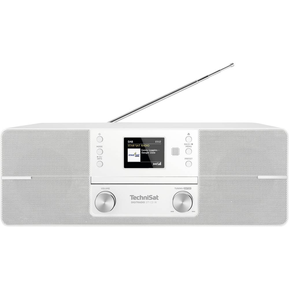TechniSat DIGITRADIO 371 CD IR internetové stolní rádio internetové, DAB+, FM AUX, Bluetooth, CD, DAB+, internetové rádio, FM, USB, Wi-Fi s USB nabíječkou, vč. dálkového ovládání bílá