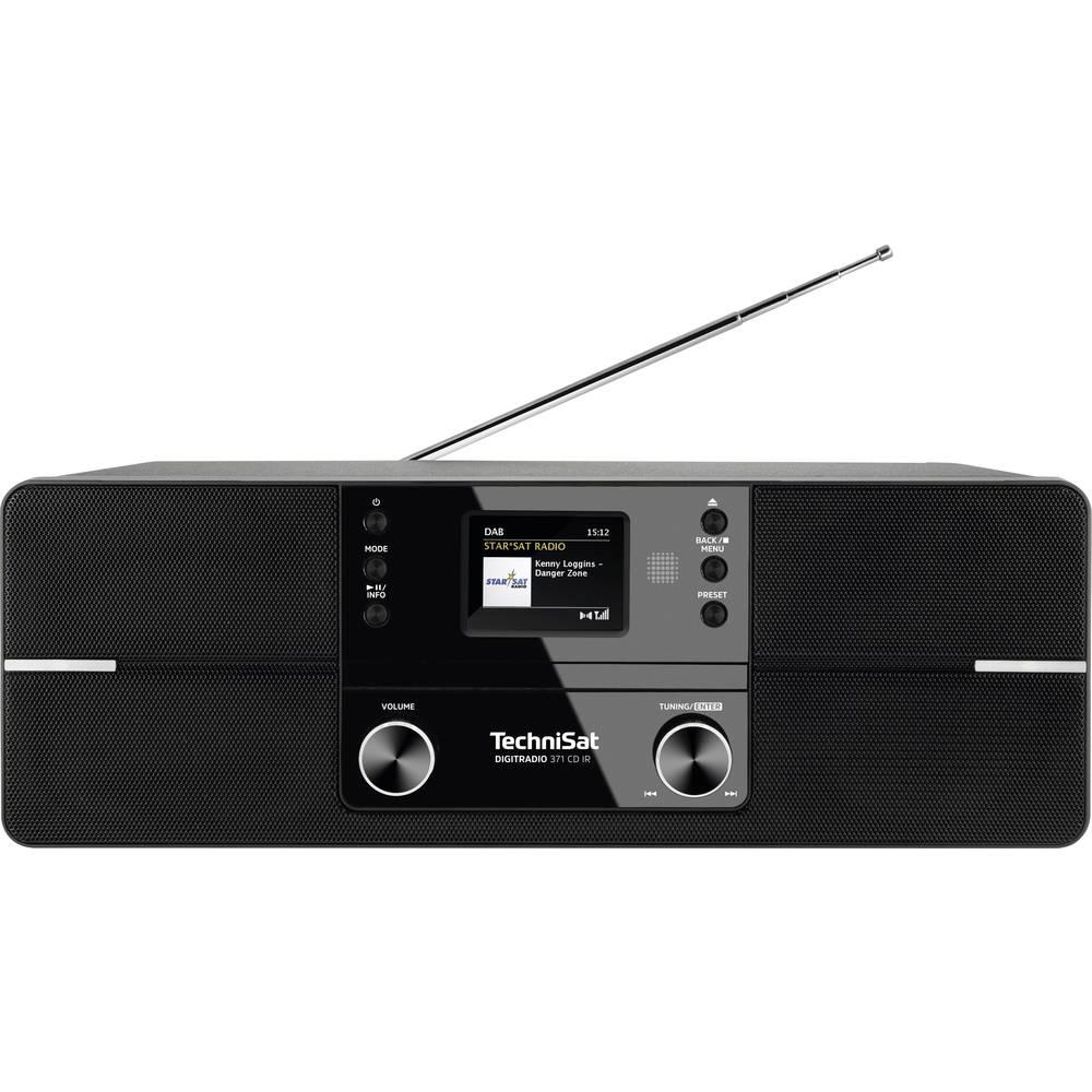 TechniSat DIGITRADIO 371 CD IR internetové stolní rádio internetové, DAB+, FM AUX, Bluetooth, CD, DAB+, internetové rádio, FM, USB, Wi-Fi s USB nabíječkou, vč. dálkového ovládání černá