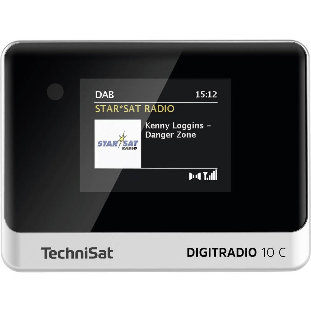 TechniSat DIGITRADIO 10 C stolní rádio DAB+, FM Bluetooth, DAB+, FM vč. dálkového ovládání, funkce alarmu černá/stříbrná