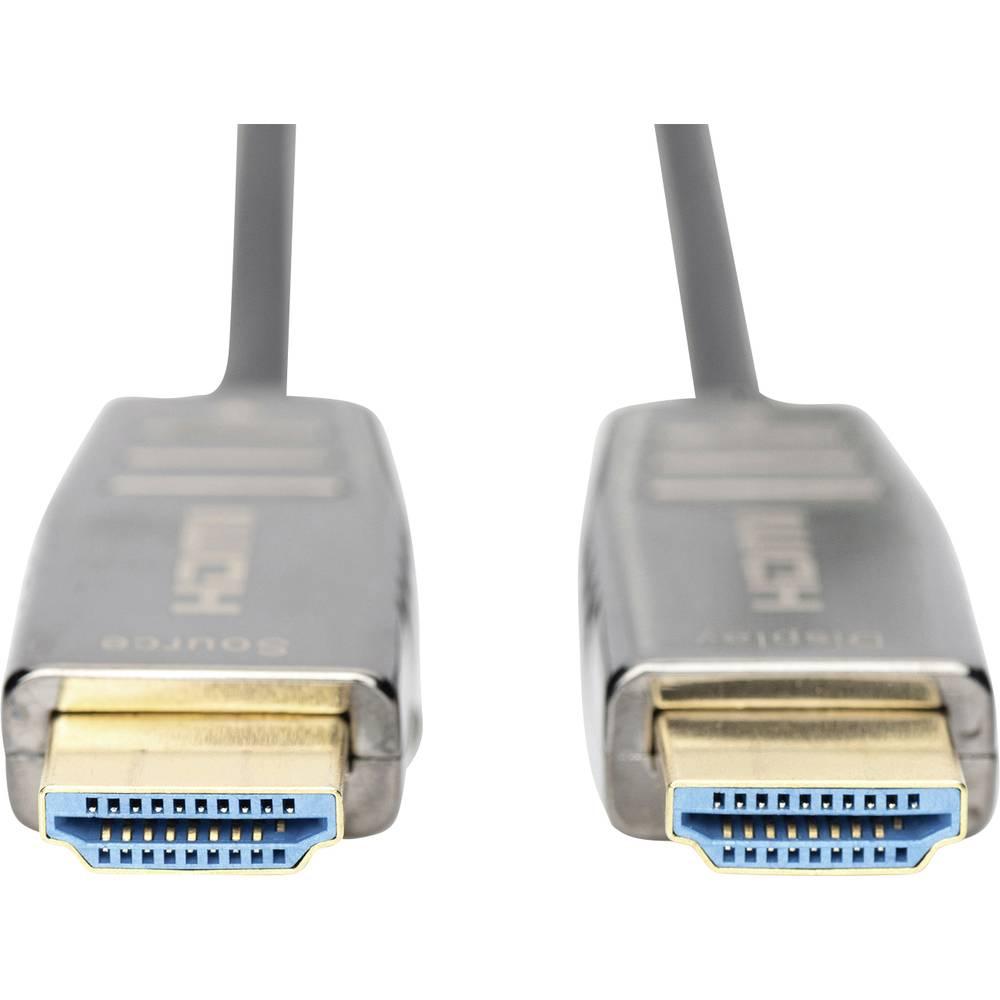 Digitus optické vlákno / HDMI kabel 20.00 m AK-330126-200-S stíněný, podpora HDMI, High Speed HDMI, High Speed HDMI s Ethernetem, standardní HDMI, Ultra HD (4K) HDMI, Ultra HD (4K) HDMI s Ethernetem, Ultra HD (8K), dvoužilový stíněný černá [1x HDMI zástrč