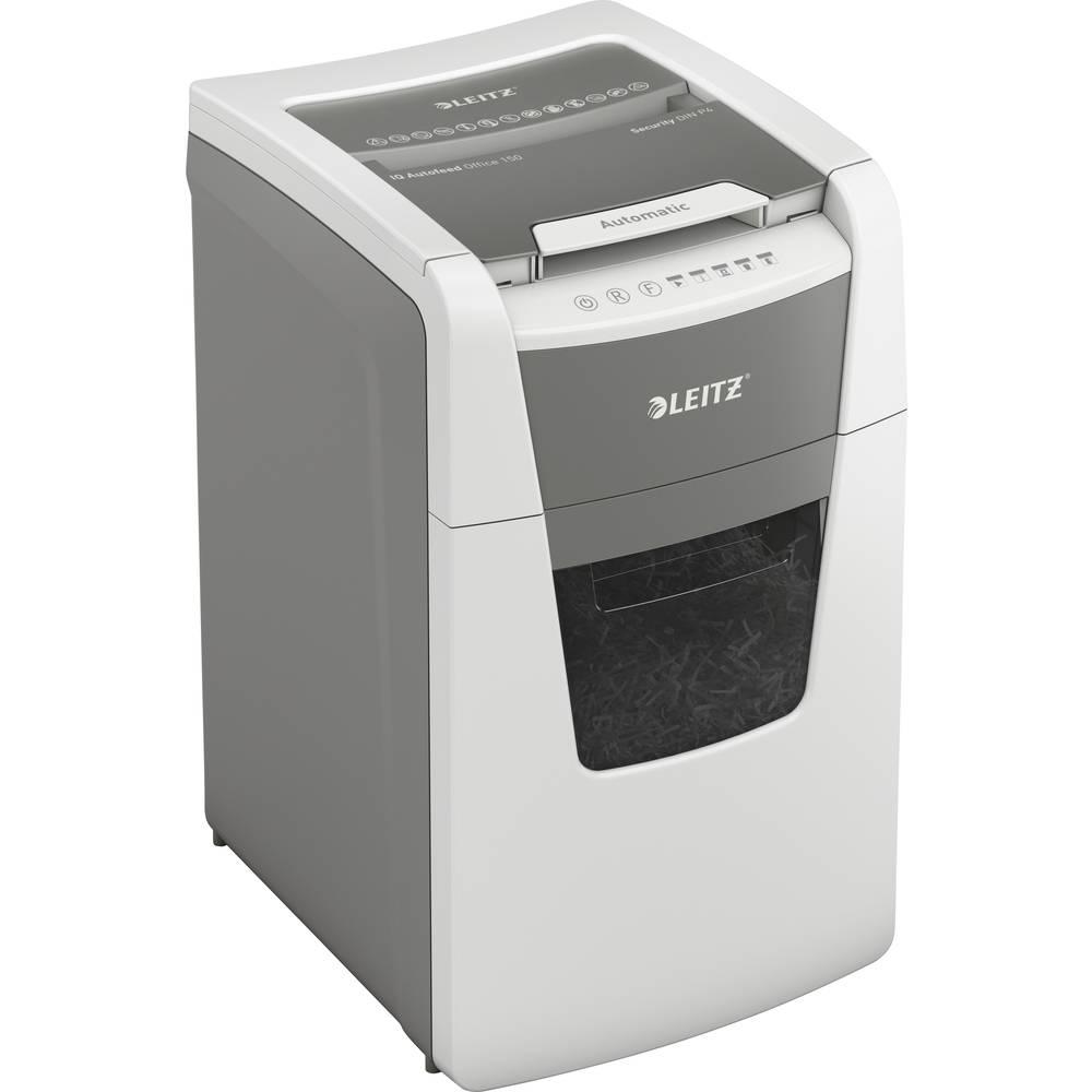 Leitz IQ Autofeed Office 150 skartovačka na kousky 44 l Počet listů (max.): 150 Stupeň zabezpečení (skartovač) 4 Křížový řez kancelářské sponky, sponky do sešívačky, kreditní karty