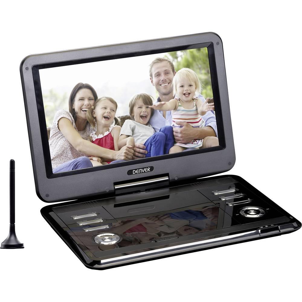 Denver MT-1150T2H Přenosná TV s DVD přehrávačem 29.2 cm 11.5 palec Energetická třída (EEK2021): B (A++ - E) napájení z akumulátoru, vč. antény DVB-T, vč. 12V připojovacího kabelu do auta, s integrovaným DVD přehrávačem černá