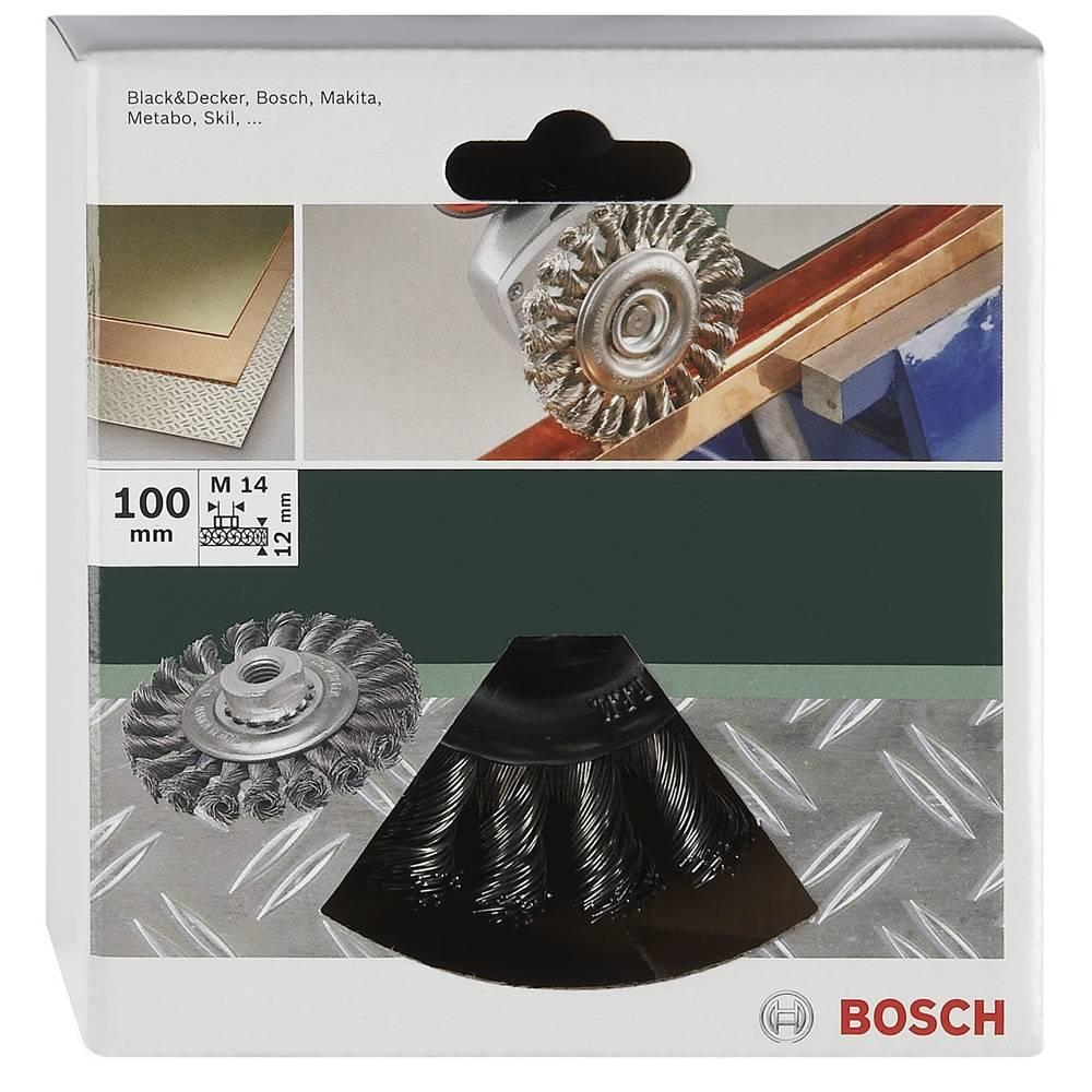 Bosch Accessories Okružní brusný kartáč pro úhlové a přímé brusky - copánkový drát, nerez, 100 mm Ø 100 mm Nerezový drát 2609256509 1 ks